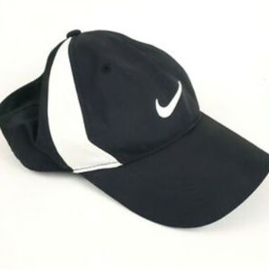 Nike Golf Men's Black White Strapback Hat Cap